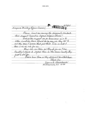 Primary view of object titled 'Letter from Donna G. Wasielewski to the Commission dtd 13 June 2005'.