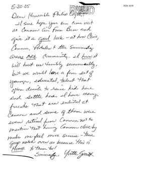 Primary view of object titled 'Letter from Yvette Gossett to the Commission'.