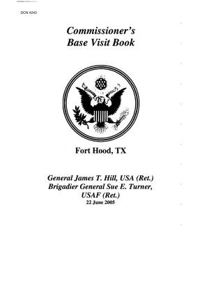 Primary view of object titled 'Base Visit Book - Army - Fort Hood Texas'.