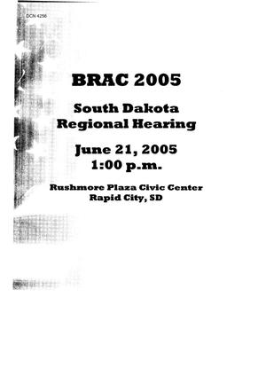 Primary view of object titled 'BRAC 2005 South Dakota Regional Hearing'.