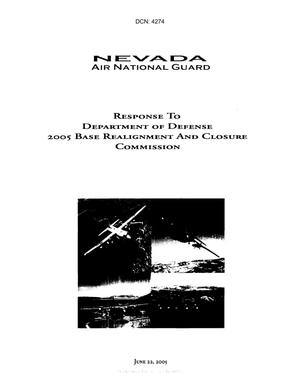 Primary view of object titled 'State Input - Nevada Air National Guard Response to Department of Defense 2005 BRAC'.