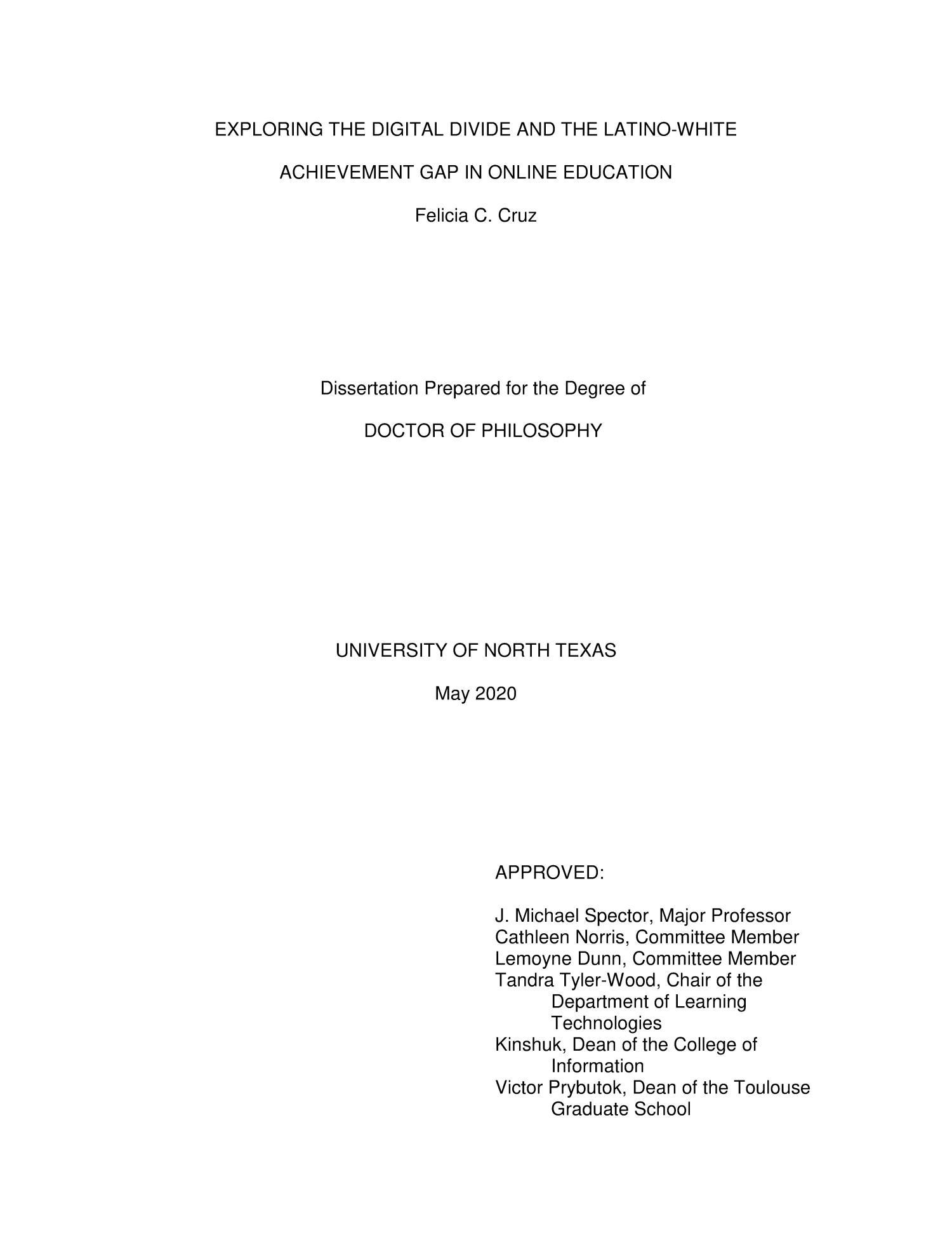 Dissertation digital divide