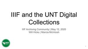 IIIF and the UNT Digital Collections