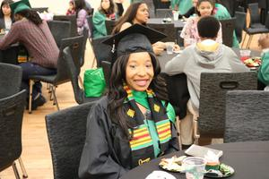 Primary view of [Graduate at 2017 Multicultural Graduation]