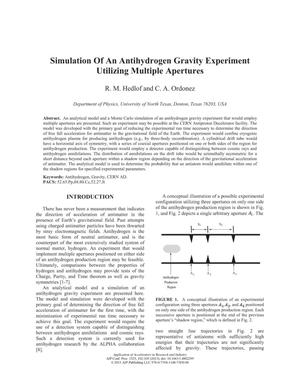 Simulation Of An Antihydrogen Gravity Experiment Utilizing Multiple Apertures