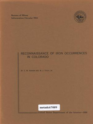 Primary view of object titled 'Reconnaissance of Iron Occurrences in Colorado'.