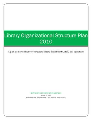 Library Organizational Structure Plan 2010