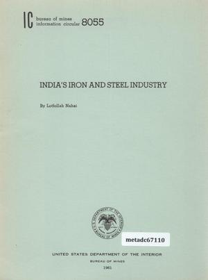 Primary view of object titled 'India's Iron and Steel Industry'.