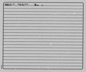 Primary view of object titled '[Grangeville Quadrangle: Single Record Data Listings]'.
