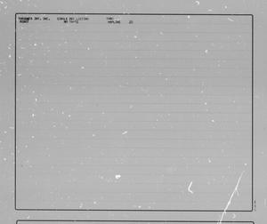 Primary view of object titled '[Minot Quadrangle: Single Record Data Listings]'.