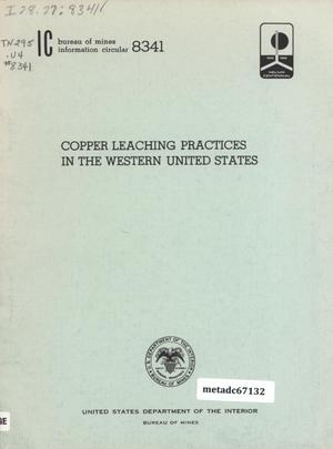 Primary view of object titled 'Copper Leaching Practices in the Western United States'.