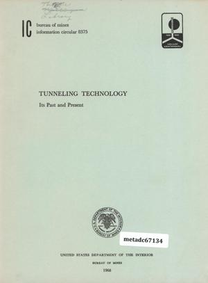 Primary view of object titled 'Tunneling Technology: Its Past and Present'.