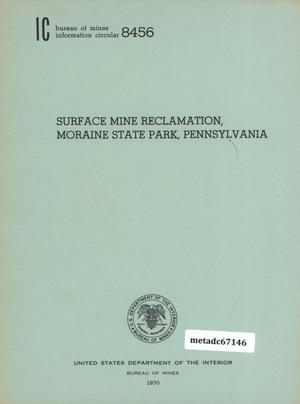 Primary view of object titled 'Surface Mine Reclamation, Moraine State Park, Pennsylvania'.