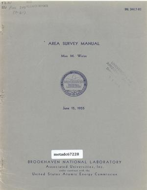 Primary view of object titled 'Area Survey Manual'.