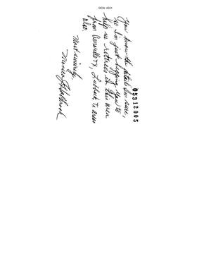 Primary view of object titled 'Letter from Monica J. Holbrook to the Commission dtd 20 May 2005'.