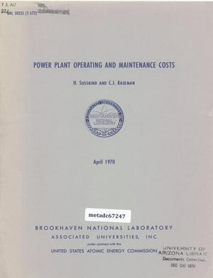 Primary view of object titled 'Power Plant Operating and Maintenance Costs'.