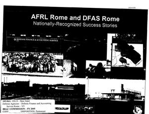 Primary view of object titled 'State Input from AFRL Rome and DFAS Rome to the BRAC Commission'.
