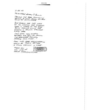 Primary view of object titled 'Letter from Veera Charoensukvipad to the Commission dtd 20 May 2005'.