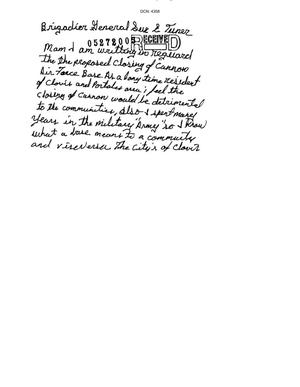 Primary view of object titled 'Letter from Mike Frientes to the Commission'.