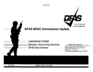 Primary view of object titled 'DFAS San Antonio Presentation to Commission'.