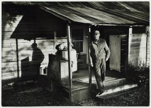 Primary view of object titled '[C.A. Andrews on his Front Porch]'.