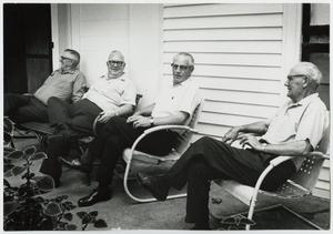 Primary view of object titled '[Four Elderly Men on a Porch]'.
