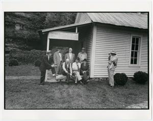 Primary view of object titled '[Retirees on the Front Porch]'.