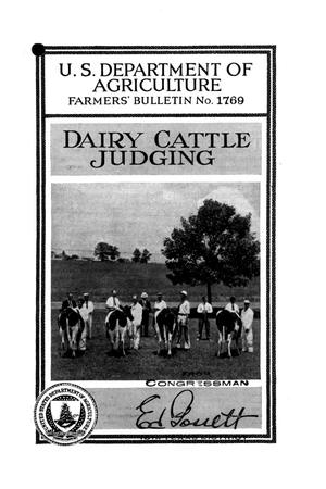 Primary view of Dairy cattle judging.