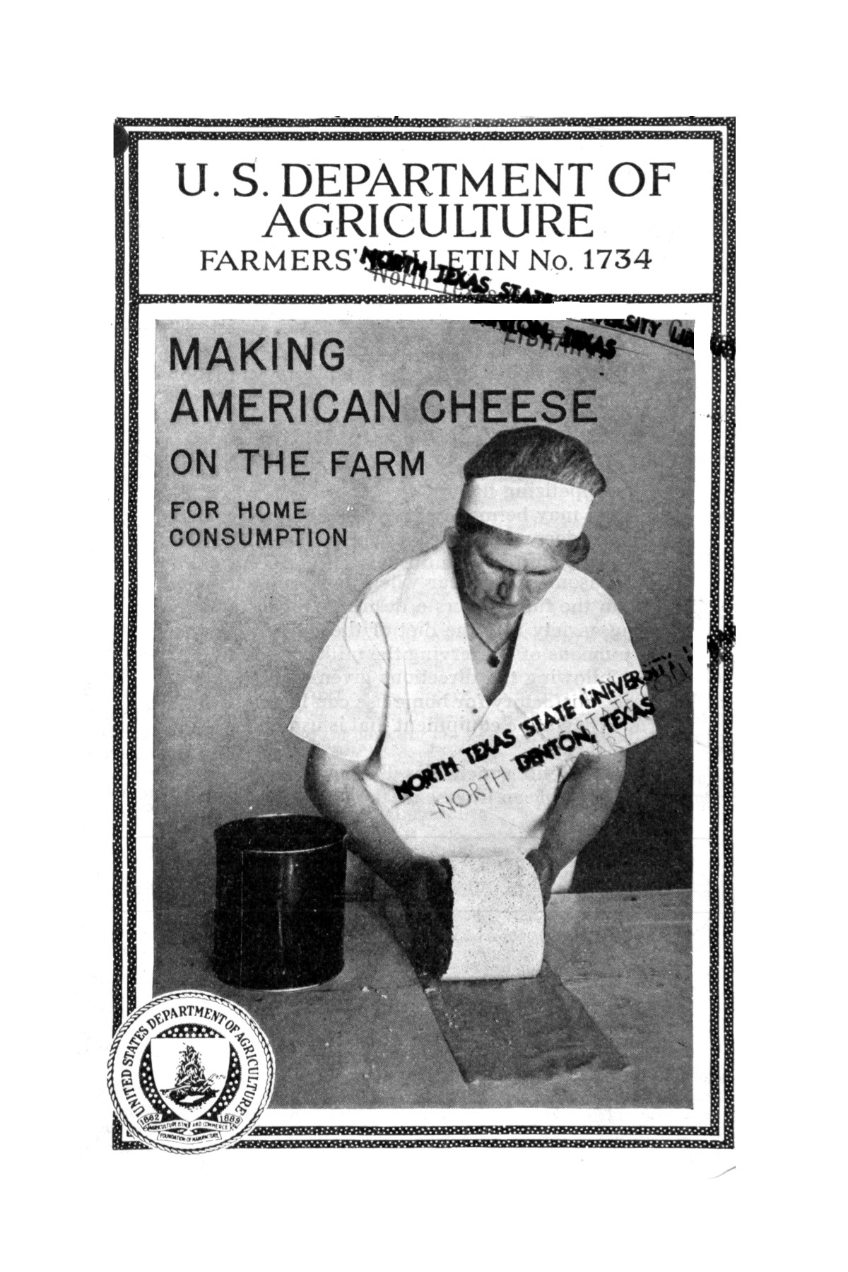 Making American cheese on the farm for home consumption.                                                                                                      Front Cover