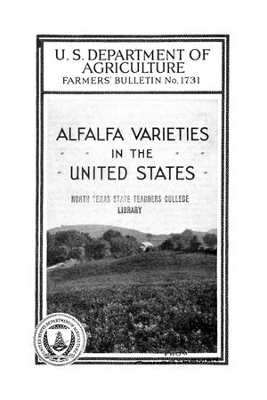 Primary view of object titled 'Alfalfa varieties in the United States.'.
