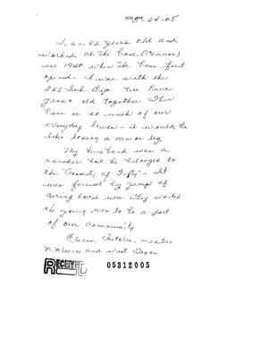 Primary view of object titled 'Letter from Steven Hamond to the BRAC Commission dtd 24 May 2005'.