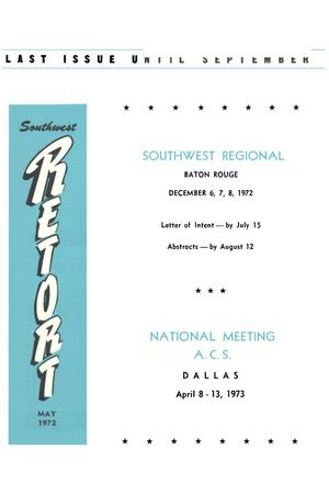 Primary view of object titled 'Southwest Retort, Volume 24, Number 9, May 1972'.