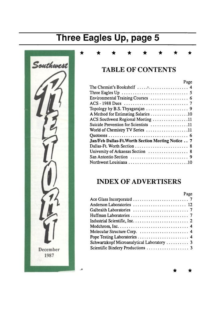 Southwest Retort, Volume 40, Number 8, November 1987 - Digital Library
