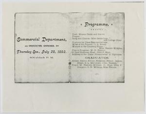 Primary view of object titled '[Commencement Program for North Texas State Normal College, July 28, 1892]'.