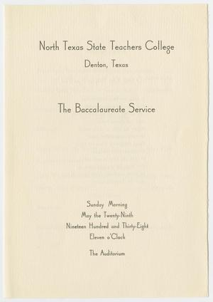 Primary view of object titled '[Commencement Program for North Texas State Teachers College, May 29, 1938]'.