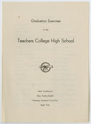 Primary view of object titled '[Graduation Exercises for the Teachers College High School, May, 28, 1942]'.