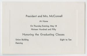 Primary view of object titled '[Commencement Announcement for North Texas State College, May 18, 1950]'.