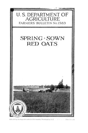 Primary view of object titled 'Spring-sown red oats.'.