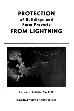 Primary view of object titled 'Protection of buildings and farm property from lightning.'.