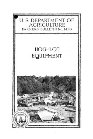 Primary view of object titled 'Hog-lot equipment.'.