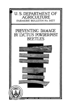 Primary view of object titled 'Preventing damage by Lyctus powder-post beetles.'.