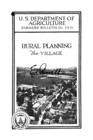 Primary view of object titled 'Rural planning : the village.'.