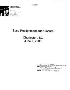 Primary view of object titled 'Community Input from Charleston, South Carolina dtd 7 June 2005'.