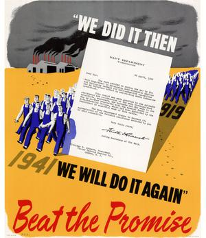 "Primary view of object titled '""We did it then, we will do it again"" : beat the promise.'."