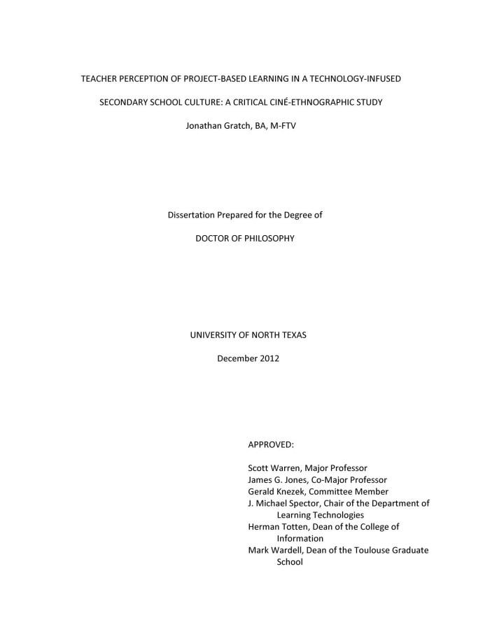 Ethnographic dissertation