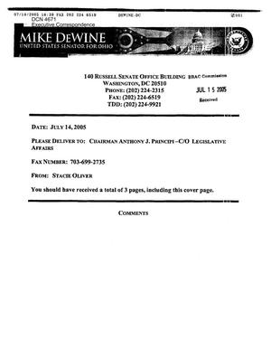 Executive Correspondence –  Letter dtd 07/14/05 to Chairman Principi from OH Senator DeWine