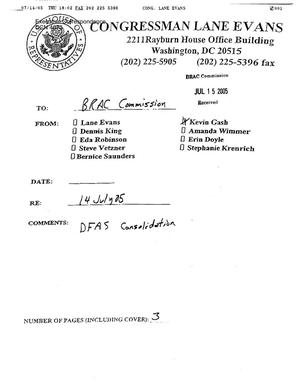 Primary view of object titled 'Executive Correspondence – Letter dtd 07/14/05 to Chairman Principi from Senators Grassley, Harkins, Obama, and Durbin as well as Representatives Lane Evans, Hastert, and Nussle'.