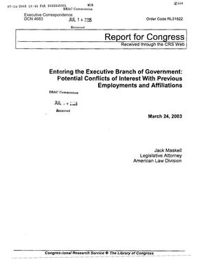 Primary view of object titled 'Congressional Research Service (CRS) report for Congress'.