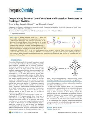 Cooperativity Between Low-Valent Iron and Potassium Promoters in Dinitrogen Fixation