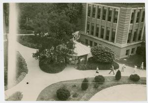 Primary view of object titled '[Science Building and gazebo at North Texas State Teachers College]'.